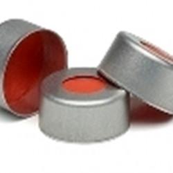 Agilent 11mm Al crimp cap PTFE/Rubber sept 500PK