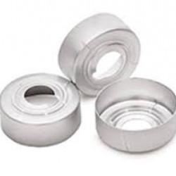 Agilent 20mm silver alum safety crimp cap 100pk
