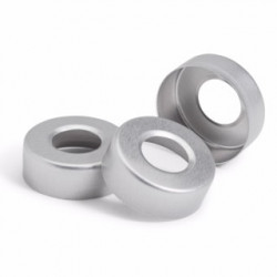 Agilent 20mm silver alum crimp cap,100pk