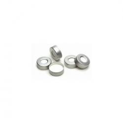 Agilent 20mm Crimp caps with septa, 100/PK