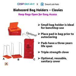 Bel-Art Biohazard Bag Holders - Clavies®