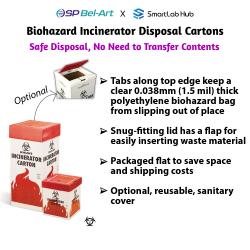 Bel-Art Cardboard Biohazard Incinerator Disposal Cartons