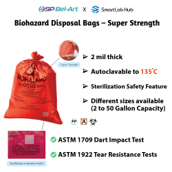 Bel-Art Biohazard Disposal Bags - Super Strength