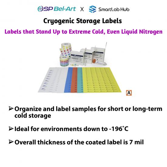 Bel-Art Cryogenic Storage Labels