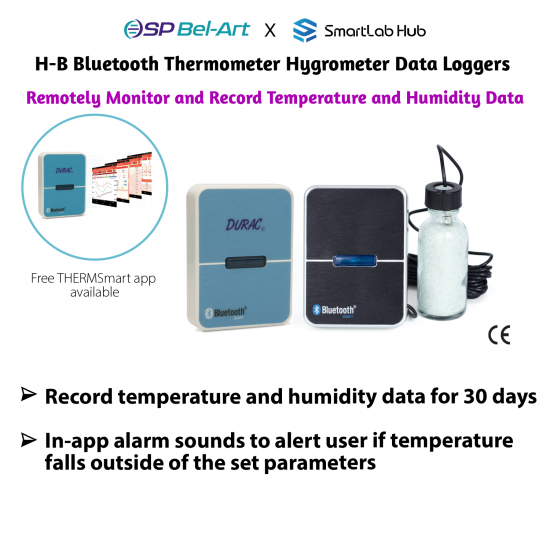 Bel-Art H-B Bluetooth Thermometer Hygrometer Data Loggers