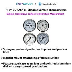 Bel-Art H-B DURAC® Bi-Metallic Surface Thermometer