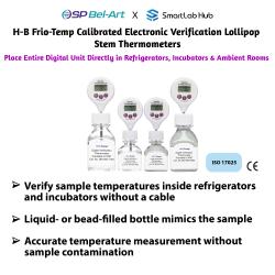 Bel-Art H-B FRIO-Temp® Calibrated Electronic Verification Lollipop Stem Thermometers