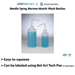Bel-Art Needle Spray Narrow-Mouth Wash Bottles
