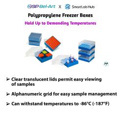 Bel-Art Polypropylene Freezer Boxes
