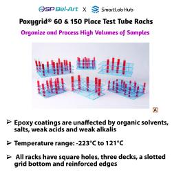Bel-Art Poxygrid® 60 &150 Place Test Tube Racks