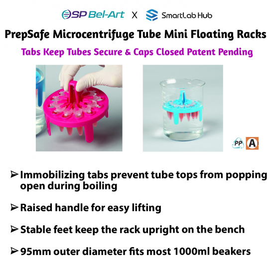Bel-Art PrepSafe Microcentrifuge Tube Mini Floating Racks