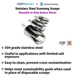 Bel-Art Stainless Steel Economy Scoops
