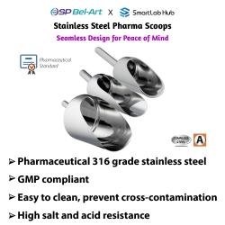 Bel-Art Stainless Steel Pharma Scoops