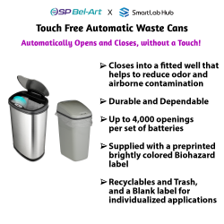 Bel-Art Touch Free™ Automatic Waste Cans