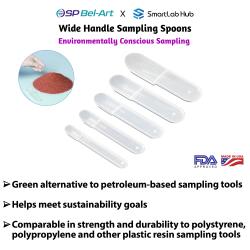 Bel-Art Wide Handle Sampling Spoons