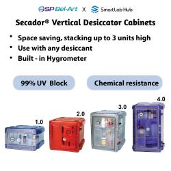 Bel-Art Secador® 1.0, 2.0, 3.0 and 4.0 Vertical Desiccator Cabinets