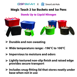 Bel-Art Magic Touch 2™ Ice Buckets and Ice Pans