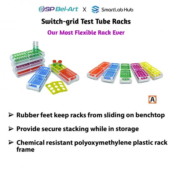 Bel-Art Switch-grid Test Tube Rack