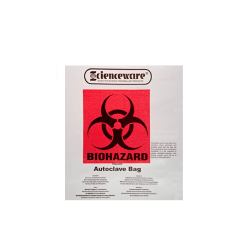 Bel-Art Clear Biohazard Disposal Bags with Warning Label; 1.5 mil Thick, 1-3 Gallon Capacity, Polypropylene (Pack of 100)