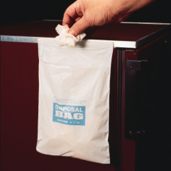 Bel-Art CleanwareTM Polyethylene White Self Adhesive Waste Bags; Holds 3 lb, 1.0 mil Thick, 12 in. W x 16 in. H (Pack of 50)