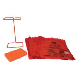 Bel-Art Poxygrid Bench-Top Biohazard Bag Holder Kit; Includes 100 Polyethylene 8¹/₂ x 11 in. Bags
