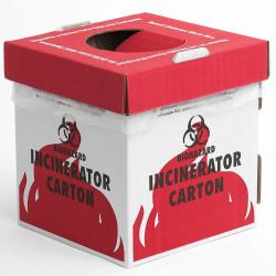 Bel-Art Cardboard Biohazard Incinerator Cartons; Benchtop Model (Pack of 6)