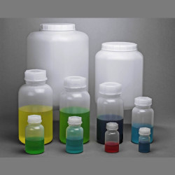 Bel-Art Wide-Mouth 50ml Polyethylene Bottles – Heavy Duty Closure (Pack of 12)