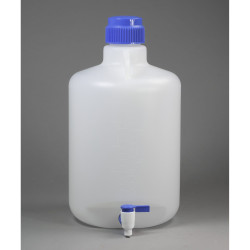 Bel-Art Autoclavable Polypropylene Carboy with Spigot; 20 Liters (5.3 Gallons)