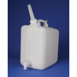 Bel-Art Polyethylene Jerrican with Spigot; 20 Liters (5 Gallons), Screw Cap, ¾ in. I.D. Spout