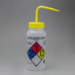Bel-Art GHS Labeled Safety-Vented Dichloromethane Wash Bottles; 500ml (Pack of 4)
