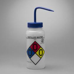 Bel-Art GHS Labeled Safety-Vented Distilled Water Wash Bottles; 500ml (Pack of 4)
