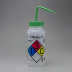 Bel-Art GHS Labeled Safety-Vented Ethyl Acetate Wash Bottles; 500ml (Pack of 4)