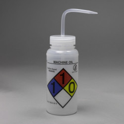 Bel-Art GHS Labeled Safety-Vented Machine Oil Wash Bottles; 500ml (Pack of 4)