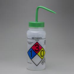 Bel-Art GHS Labeled Safety-Vented Methanol Wash Bottles; 500ml (Pack of 4)