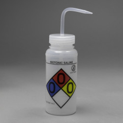 Bel-Art GHS Labeled Safety-Vented Isotonic Saline Wash Bottles; 500ml (Pack of 4)