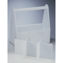 Bel-Art Polyethylene Bottle Carrier without Partitions; 14 x 7 x 6 in.