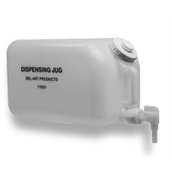 Bel-Art Polyethylene Dispensing Jug; 20 Liters (5 Gallons), Polyethylene Spigot