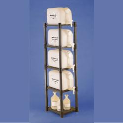 Bel-Art Dispensing Jug Polyethylene Rack for H11850-0000; 15¼ x 13⅞ x 60 in.