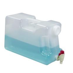 Bel-Art Polypropylene Book Bottle with Spigot; 10 Liters (2.5 Gallons), 6¹/₂ x 9¹/₂ x 14³/₄ in.