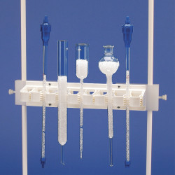 Bel-Art Chromatography Column Holder; 12¼ x 2½ in. for up to 8 1³⁄₁₆ in. Columns