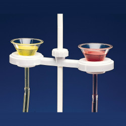 Bel-Art Polypropylene Funnel Holder for Two 1 to 6 in. Funnels