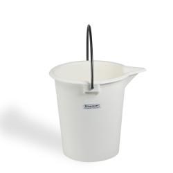 Bel-Art Heavy-Duty 10 Liter Pail; Polyethylene Bucket, 12 in. H x 9⅝ in. I.D.
