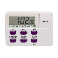 Bel-Art, H-B DURAC Single Channel Electronic Timer with Memory and Clock and Certificate of Calibration