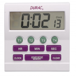 Bel-Art, H-B DURAC 4-Channel Electronic Timer and Clock with Certificate of Calibration