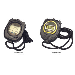Bel-Art, H-B DURAC Digital Plastic Stopwatch; 1/100 Second Chronograph with Clock Alarm and Calendar