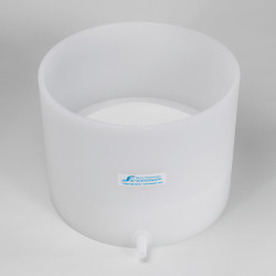 Bel-Art Polyethylene Buchner Table-Top Funnel with Medium Porosity Removable Plate; 10.25 in. I.D., 8 in. Height