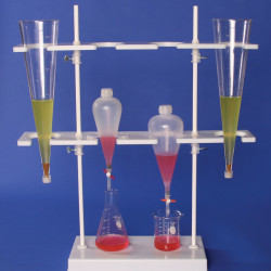 Bel-Art Polyethylene Imhoff Cone and Separatory Funnel Rack; 8.5 x 26 x 29 in.