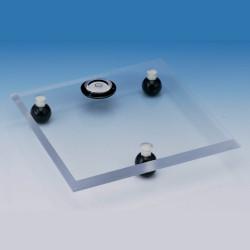 Bel-Art Acrylic Leveling Table; 8 x 8 x ⅜ in.