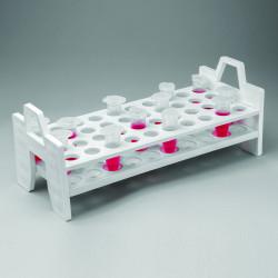 Bel-Art Centrifuge Tube Rack; For 5ml or 13-16mm Tubes, 40 Places