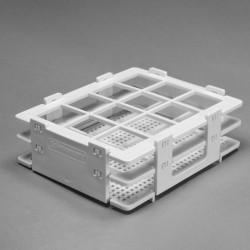 Bel-Art No-Wire Bottle and Vial Rack; For 20-25mm Bottles and Vials, 12 Places